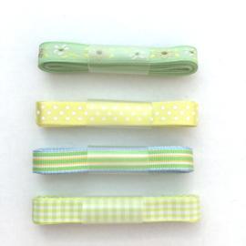 Lint - combinatie groen & geel - 4x1 meter