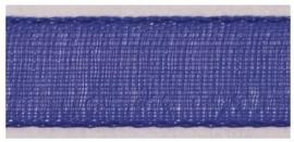 Lint - Organza - blauw - 15mm - 5 meter
