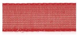 Lint - Organza - rood - 15mm - 5 meter