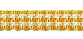 Lint - ruitjes - warm geel - 5mm - 5 meter