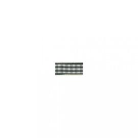 Lint - ruitjes - donkergroen - 10mm - 10 meter