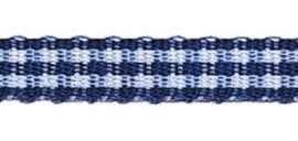 Lint - ruitjes - donkerblauw - 5mm - 5 meter