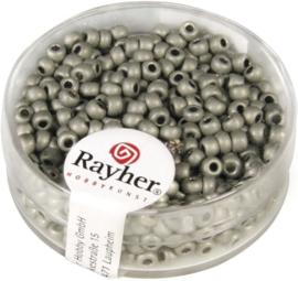 Rocailles rond - mat metallic - grijs
