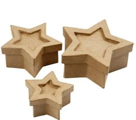 Stervormige doosjes - 3 stuks