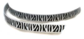 Lint - zebra zwart & wit - 10 mm - 1 meter