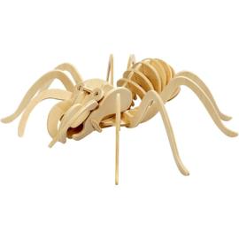3D houten puzzelfiguur - spin