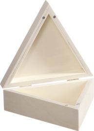Houten sieradendoosje - driehoek