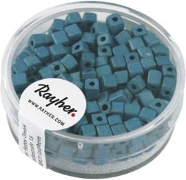 Rocailles vierkant - mat metallic - turquoise