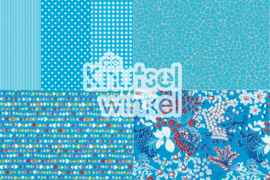 Decopatch papier mix blauw