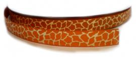 Lint - giraf roestbruin & ivoor - 10 mm - 1 meter