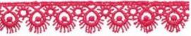 Lint - kant - roze - 16 mm - 1 meter