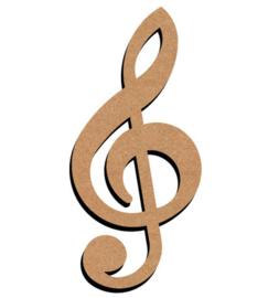 MDF Muzieksleutel - klein