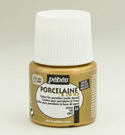 Pebeo porseleinverf - metallics - gold 44