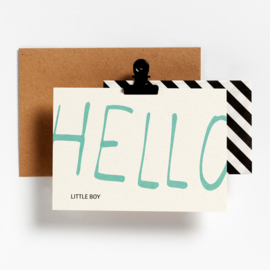 POSTCARD - HELLO LITTLE BOY
