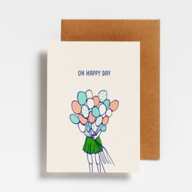 POSTCARD - OH HAPPY DAY