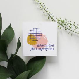 GIFT LABEL - C1 - GEFELICITEERD MET JULLIE HUWELIJKSVERJAARDAG