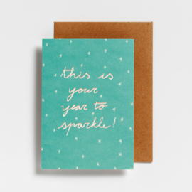 POSTCARD - THIS IS YOUR YEAR TO SPARKLE!