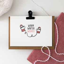 POSTCARD - WARM WINTER WISHES