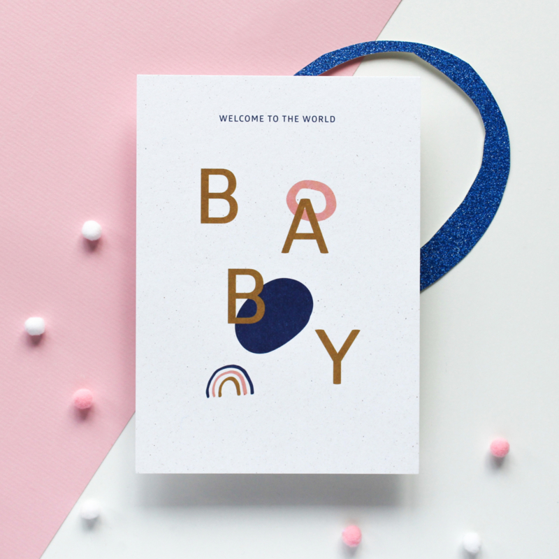 POSTCARD - WELCOME TO THE WORLD BABY