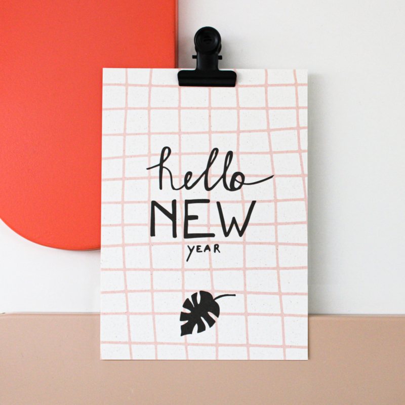 POSTCARD - HELLO NEW YEAR