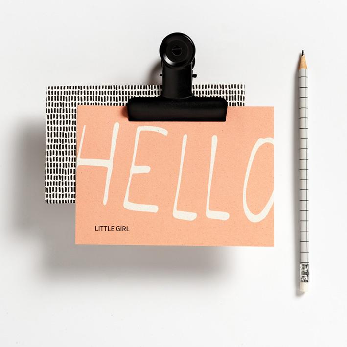 POSTCARD - HELLO LITTLE GIRL