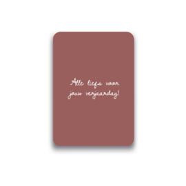 Ansichtkaart Alle liefs voor jouw verjaardag