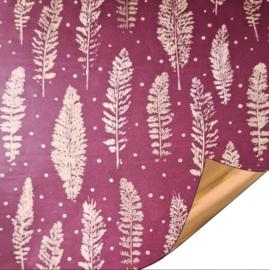 Cadeaupapier bordeaux feathers (30 cm)
