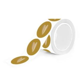 Sticker hartje geel (10st)