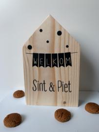 Houten huisje M | Welkom Sint & Piet