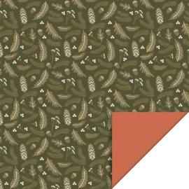 Cadeaupapier Green gold (30 cm)