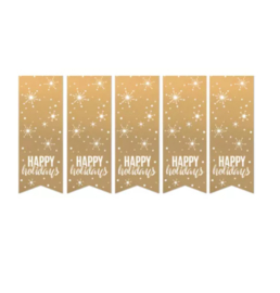 Sticker Happy Holidays (10st)