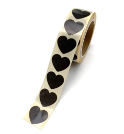 Sticker mini hartje zwart (10st)