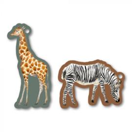 Cadeaulabel | Giraffe & zebra