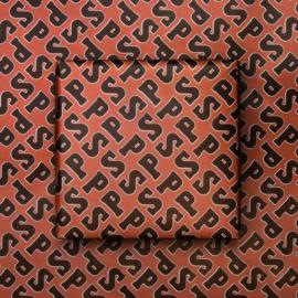 Cadeaupapier chocoladeletter (50cm)