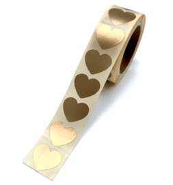 Sticker mini hartje goud (10 st)