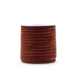 Velvet lint roest 6mm (3m)