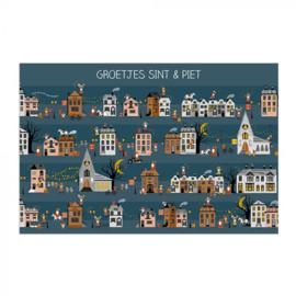 Ansichtkaart Sint huisjes