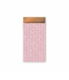 Cadeauzakjes S roze streep (5st)