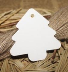 Label kerstboom wit(5st)