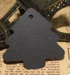 Label Kerstboom zwart (5st)