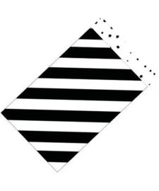 Cadeauzakje M | Zwart/wit (5 stuks)