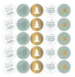 Stickers kerst cool (10st)
