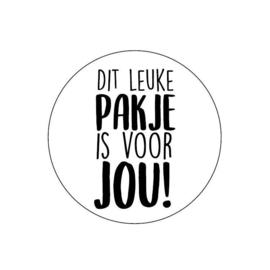 Sticker 'Dit leuke pakje is voor jou'(10st)