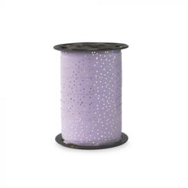 Krullint lila dots (5m)