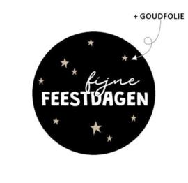 Stickers   Fijne feestdagen (10 st)