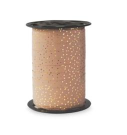 Krullint Dots roze (5m)