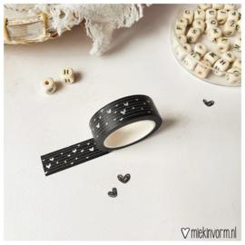Masking tape zwart hart-streep