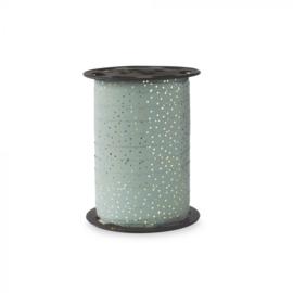 Krullint groen/blauw dots (5m)