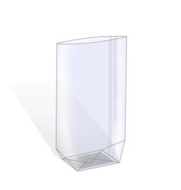 Transparante kruisbodemzakken (5st)