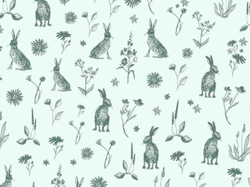 Cadeaupapier Mister Rabbit mint (3m